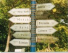 Signpost on Pulau Weh, Aceh Province (NAD), Indonesia, 1998. By Zaynab El-Fatah