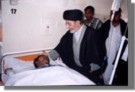 Agha Syed Musavi Visiting the injured from the Bari Imam terror attack in Pakistan on 27th May, 2005. By TNFJ.